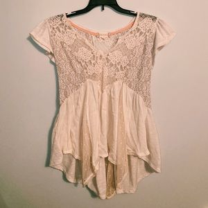 Altar'D State ivory blouse